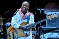 Meshell Ndegeocello performs at WORDS + MUSIC, presented Thursday, June 29, 2017 at the Television Academy's Wolf Theatre at the Saban Media Center in North Hollywood, California.