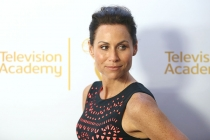 Minnie Driver arrives at the Montage Beverly Hills for the 2014 Performers Peer Group Primetime Emmy nominee reception.