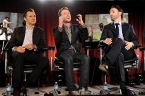 David Morrissey, moderator Chris Hardwick and Andrew Lincoln at An Evening with The Walking Dead.