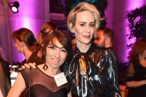 Naomi Grossman and Sarah Paulson at the Performers Peer Group Celebration, August 22, 2016, at the Montage Beverly Hills in Beverly Hills, California.