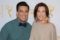 Napoleon and Tabitha D'umo arrive at the Choreographers Nominee Reception in North Hollywood, California.