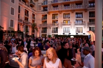 As evening falls, guests continue to celebrate at the Performers Peer Group Celebration August 24 at the Montage in Beverly Hills, California.