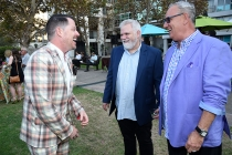 Nikolous Brown, Donn Hook, and Jim Lapidus at the 10th Annual Art of Television Costume Design Exhibition opening at the FIDM Museum & Galleries on the Park on Saturday, July 30, 2015, in Los Angeles.