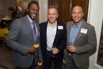 Nnamdi Nwasa, Arlen Appelbaum, and Victor Buzeta at the New York Networking Night Out, November 13, 2015 at the St. Regis in New York City.