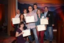 Stuart Bass, Eileen Finkelstein, Julie Cohen, Scott Austin Hahn, Yaffa Lerea, Ryan Mallick, and Scott Boyd at the Picture Editors Nominee Reception in North Hollywood, California.