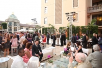 Guests enjoy the Montage Terrace at the Performers Peer Group Celebration August 24 at the Montage in Beverly Hills, California.