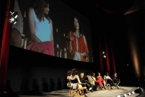 The panel at An Evening with Shonda Rhimes and Friends.