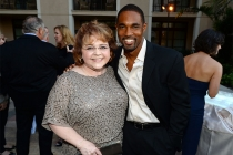 Patrika Darbo and Jason George at the Performers Peer Group nominee reception.