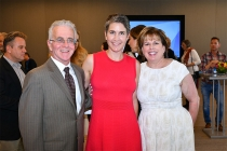 Paul Krekorian, Television Academy CFO and EVP of Business Operations Heather Cochran, and Illyanne Kichaven at The Power of TV: A Conversation with Norman Lear and One Day at a Time, presented by the Television Academy Foundation and Netflix in celebrati
