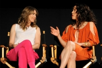 Ellen Pompeo and Sandra Oh at An Evening with Shonda Rhimes and Friends.