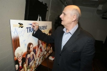 Jeffrey Tambor signs a poster at Transparent: Anatomy of an Episode, March 17, 2016 in Los Angeles.