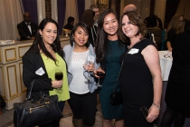 Rachael Jerahian, Regina Rivera, Katherine Pan, and Adrienne Stern at the New York Networking Night Out, November 13, 2015 at the St. Regis in New York City.