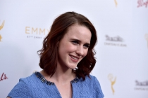 Rachel Brosnahan arrives at the Performers Peer Group Celebration August 24 at the Montage in Beverly Hills, California.