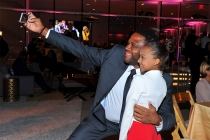 Anthony Anderson and Sophia Miller at the 38th College Television Awards presented by the Television Academy Foundation at the Saban Media Center on Wednesday, May 24, 2017, in the NoHo Arts District in Los Angeles.