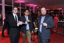 Ryan Stratton, Robert Mai, and Benjamin Hoff at the 38th College Television Awards presented by the Television Academy Foundation at the Saban Media Center on Wednesday, May 24, 2017, in the NoHo Arts District in Los Angeles.