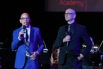 Television Academy music governors Rickey Minor and Michael A. Levine speak at WORDS + MUSIC, presented Thursday, June 29, 2017 at the Television Academy's Wolf Theatre at the Saban Media Center in North Hollywood, California.