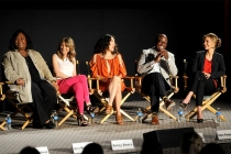 Shonda Rhimes, Ellen Pompeo, Sandra Oh, Taye Diggs and KaDee Strickland at An Evening with Shonda Rhimes and Friends.