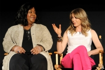Shonda Rhimes and Ellen Pompeo at An Evening with Shonda Rhimes and Friends.