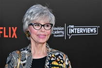 Rita Moreno arrives at The Power of TV: A Conversation with Norman Lear and One Day at a Time, presented by the Television Academy Foundation and Netflix in celebration of the Foundation's 20th Anniversary of THE INTERVIEWS: An Oral History Project, on Mo
