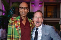 RuPaul Charles and Carson Kressley at the Performers Peer Group Celebration, August 22, 2016, at the Montage Beverly Hills in Beverly Hills, California.