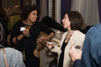 Salena Rochester and Lisa Shrevo at the New York Networking Night Out, November 13, 2015 at the St. Regis in New York City.