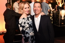 Sarah Paulson with Television Academy Chairman and CEO Bruce Rosenblum at the Performers Peer Group Celebration August 24 at the Montage in Beverly Hills, California.