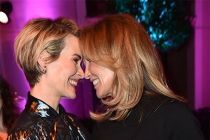 Sarah Paulson and Felicity Huffman at the Performers Peer Group Celebration, August 22, 2016, at the Montage Beverly Hills in Beverly Hills, California.