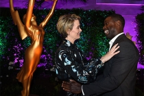 Sterling K. Brown and Sarah Paulson at the Performers Peer Group Celebration, August 22, 2016, at the Montage Beverly Hills in Beverly Hills, California.