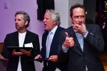 Scott Alexander, Larry Karaszewski, and D. V. DiVincentis at the writers nominee reception, September 14, 2016, at the Saban Media Center in North Hollywood, California.