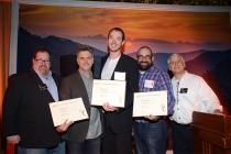 Scott Boyd, Jason Bielski, Brian Marsh, Matt Williams, and Stuart Bass at the Picture Editors Nominee Reception in North Hollywood, California.