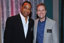 Producer Hayma Screech Washington and Television Academy President and COO Maury McIntyre at Dynamic and Diverse: A 66th Emmy Awards Celebration of Diversity at the Television Academy in North Hollywood, California.