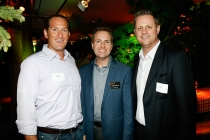 Sean Basser, Television Academy President and COO Maury McIntyre and Dave Andrews at the Interactive Media Peer Group Nominee Reception in North Hollywood, California.