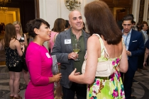 Selenis Leyva and Paul Hilepo at Networking Night Out NYC! at the St. Regis Hotel in New York City, June 12, 2015.