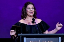 Kether Donohue presents an award on stage at the 38th College Television Awards presented by the Television Academy Foundation at the Saban Media Center on Wednesday, May 24, 2017, in the NoHo Arts District in Los Angeles.