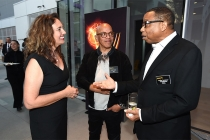Starr Parodi with Television Academy governors Rickey Minor and Hayma Washington at the Television Academy's Dynamic and Diverse event, August 25, 2016, at the Saban Media Center, North Hollywood, California.
