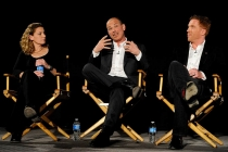 Homeland consulting producer Meredith Stiehm, executive producer Howard Gordon and actor Damian Lewis at An Evening with Homeland.