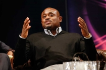 Steve Stoute onstage at An Evening with Norman Lear at the Montalban Theater in Hollywood.