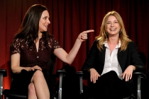 Madeleine Stowe and Emily Van Camp at An Evening with Revenge.