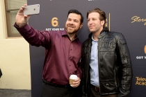 Guests take a selfie at the Got Your 6 Storytellers event, November 10, 2015, in Los Angeles, California.