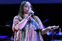 Taura Stinson performs at WORDS + MUSIC, presented Thursday, June 29, 2017 at the Television Academy's Wolf Theatre at the Saban Media Center in North Hollywood, California.