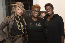 """The Lady, Sylvia Webb, and Rhonda Morgan at the Television Academy's first member event in Atlanta, """"A Conversation with Tyler Perry,"""" at the Woodruff Arts Center on Thursday, May 4, 2017."""
