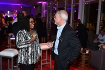 Tonya Potzin and Television Academy governor Steve Venezia at the Sound Editing and Sound Mixing nominee reception, September 8, 2016 at the Saban Media Center in North Hollywood, California.