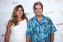 Wendy and Beau Bridges arrive at the Performers Peer Group Celebration August 24 at the Montage in Beverly Hills, California.