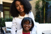 Yara Sahidi and Marsai Martin of black-ish enjoy the reception at the Eighth Annual Television Academy Honors, May 27 at the Montage Beverly Hills.